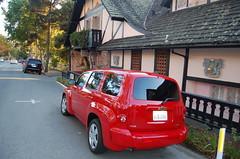 Notre voiture de loc' devant notre auberge à Carmel