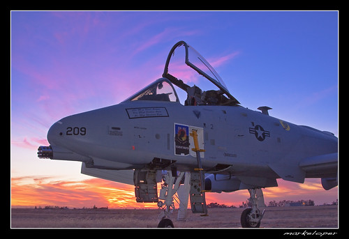 show california sunset canon air airshow lincoln warthog a10 50d markeloper