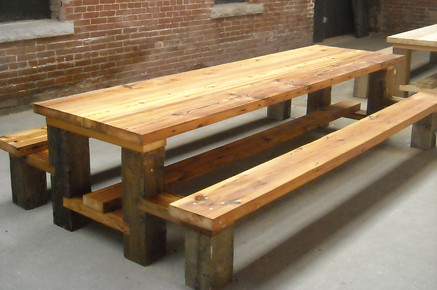 plans for a picnic table and benches