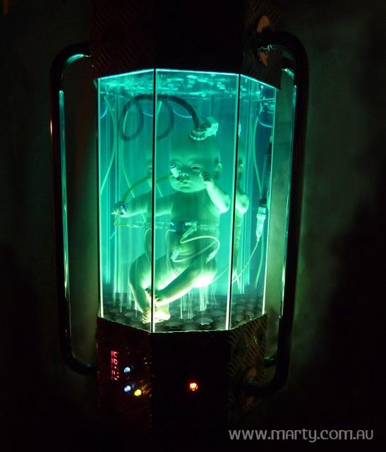 Sci Fi Clone : Womb alien baby clone sci fi art sculpture a photo on