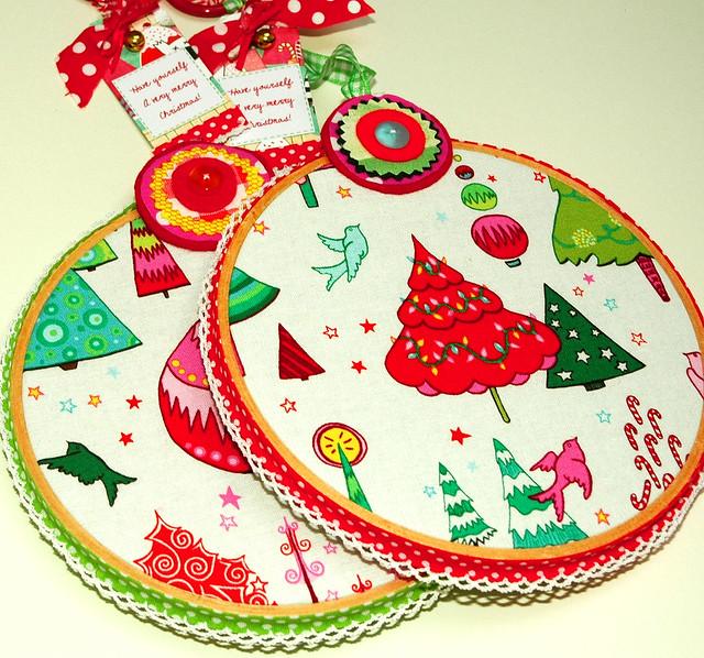 Hoop Decorations-christmas