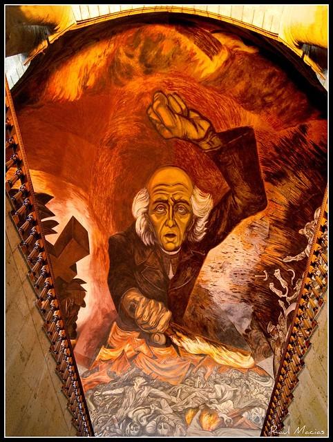 Mural jose clemente orozco palacion de gobierno for El mural guadalajara jalisco