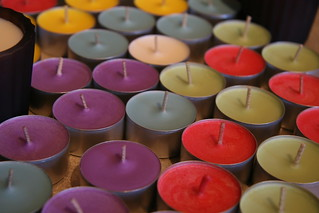 soy colourful!  Handmade, soy candles.