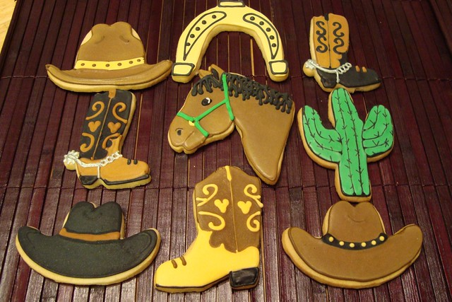 western themed cookies