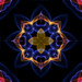 Gold and Blue Star Flower Kaleidoscope