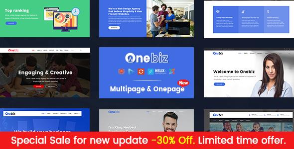 Onebiz v1.2 - Responsive Multipurpose Joomla Template