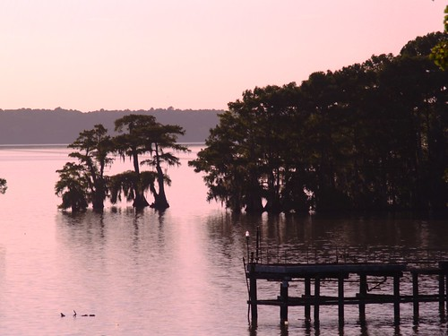 sunset acadiana cypres lakefaussepoint