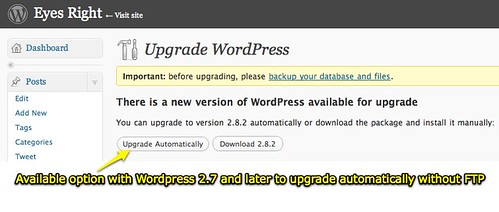Moving at the Speed of Creativity - 6 WordPress blogs all updated to WP 2.8.2