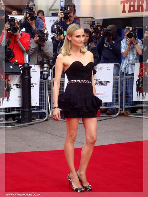 Inglourious Basterds UK Premiere - On the Red Carpet Diane Kruger