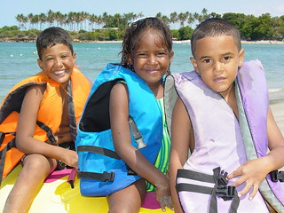 Young Kids at the Seaside - Puerto Plata - Dominican Republic