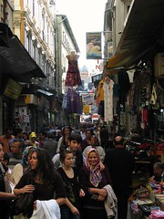 Istanbul - Oct 2008 - Street to the Spice Bazaar - Smile for the Camera