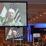 Maj. Gen. Richard Nash, commander, 34th Infantry Division, addresses attendees at the 131st National Guard Association of the United States General Conference