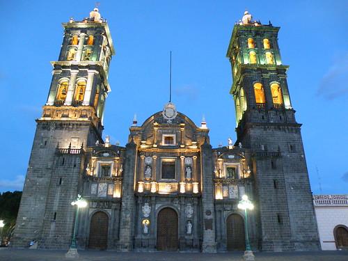 """P9230091 Recorrido Nocturno Centro Histórico de Puebla """"Catedral"""" por LAE Manuel Vela"""