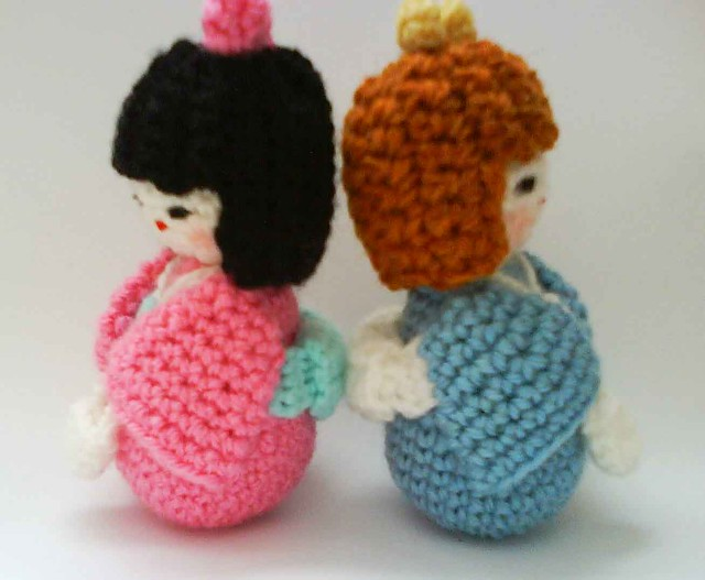 Japanese kokeshi girls doll amigurumi Crochet pattern ...
