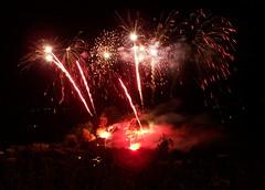 feu d'artifice depuis le moulin Lautrec - Photo of Guitalens-L'Albarède