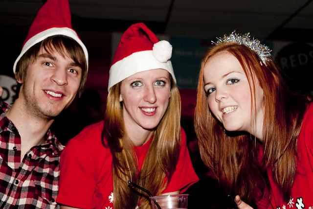 University students at Christmas