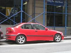 executive car(0.0), convertible(0.0), sports car(0.0), automobile(1.0), automotive exterior(1.0), bmw(1.0), wheel(1.0), vehicle(1.0), bmw 3 series compact(1.0), bumper(1.0), sedan(1.0), land vehicle(1.0), coupã©(1.0),