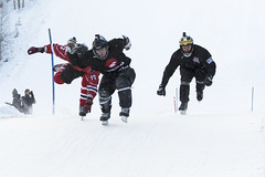 in the heat of ice cross competition