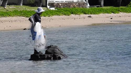ʻUpena Kiloi (Hawaiian Throw Net fishing) off Niu and Kawaikui Beaches -video