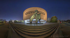 Hirshhorn Museum, Blue Hour  3 row Pano