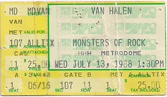 07/13/88 Van Halen's Monsters of Rock (Ticket)