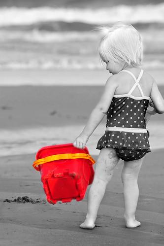 ocean family baby beach water children myrtlebeach nikon madeline selectivecolor d80 nikkor70300mm beginnerdigitalphotographychallengewinner storybookwinner
