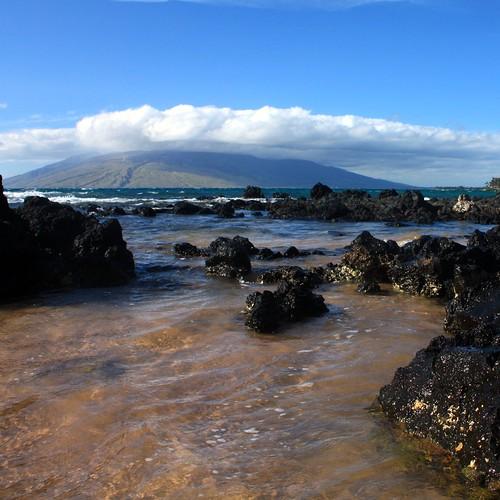 Familar lava rocks line just about every beach along Maui's southern coast.