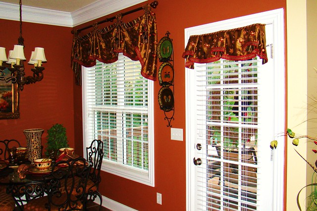 Kitchen and back door window treatments flickr photo for Kitchen back door with window