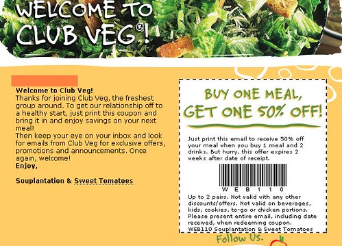 Sweet tomatoes dinner coupons