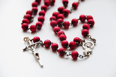 art, religious item, jewelry making, red, jewellery, necklace, bead,