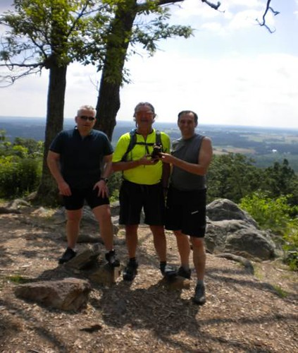 Buddy and friends on MD's Sugarloaf Mountain