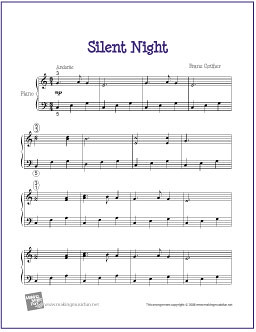 Silent Night | Free Sheet Music for Easy Piano | Flickr - Photo ...