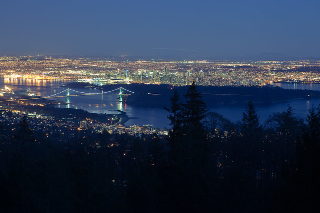 View of Vancouver downtown from Cypress Mountain