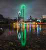 Dallas Rain Reflection West Side by JosephHaubert