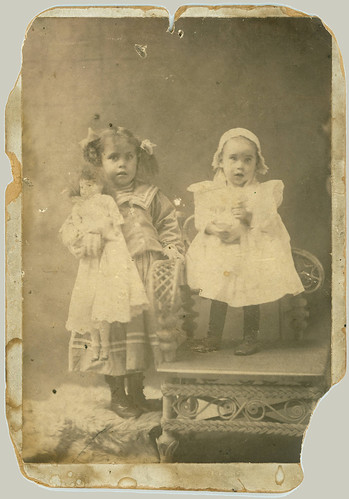 Two children cabinet card