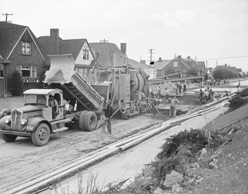 16th avenue nw under construction 1941 item 39942 for Nw construction