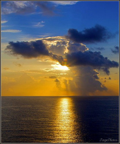 ocean blue sunset sky orange sun white holiday love gulfofmexico nature water colors yellow clouds dusk gray x romance caribbean celebrate itail 100commentgroup