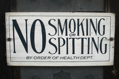 no spitting, no smoking