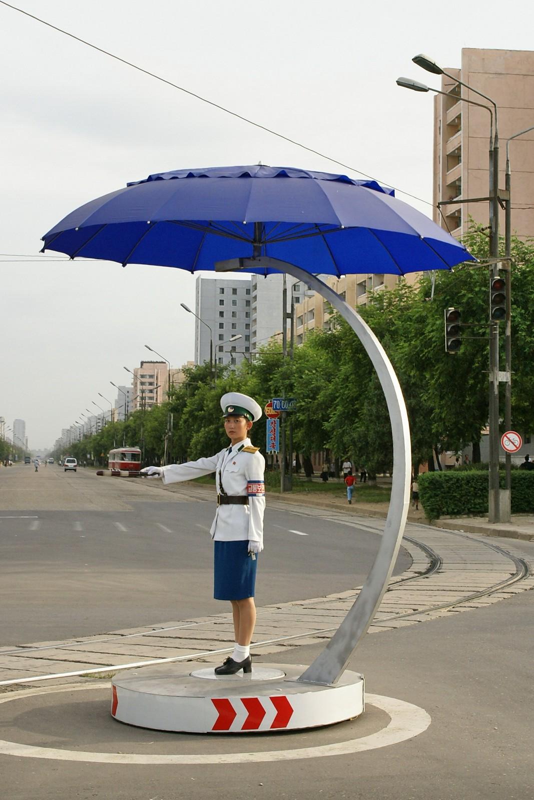 Umbrellas for the traffic ladies