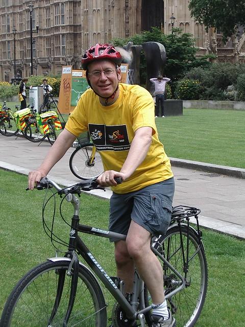 Mark Lazarowicz parliament bike ride