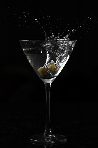 vodka with a splash of martini