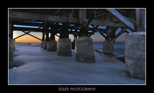 ocean sky sunrise pier florida redington sidler nikond90club nikond90group nikond90photography