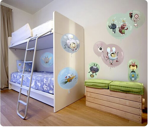 Bubble Monsters Boy's room