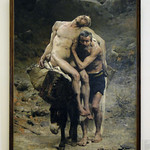 Painting - Le Bon Samaritain (The Good Samaritan) by Aimé Nicholas Morot