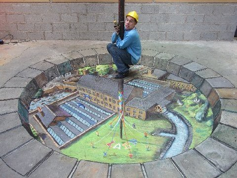 3D chalk drawings 18