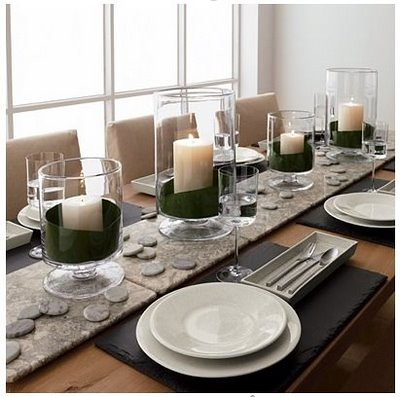 marble and slate modern table decor flickr photo