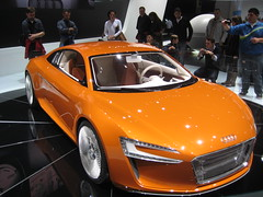 automobile, audi, exhibition, vehicle, performance car, automotive design, auto show, audi e-tron, concept car, land vehicle, luxury vehicle, supercar, sports car,