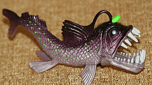Chap mei toys angler fish figure flickr photo sharing for Angler fish toy