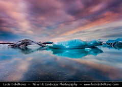 Iceland - Magic Clouds at Jokulsarlon Glacier Lagoon