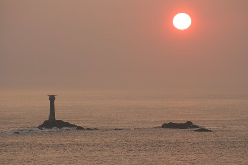 Longships Light-house, Lands End, Sunset by Stocker Images